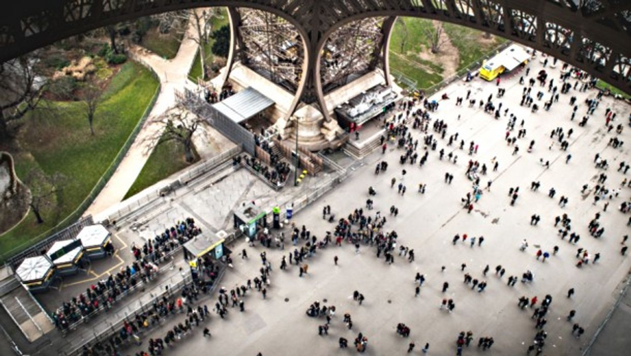 Bird's-eye view from the Eiffel Tower