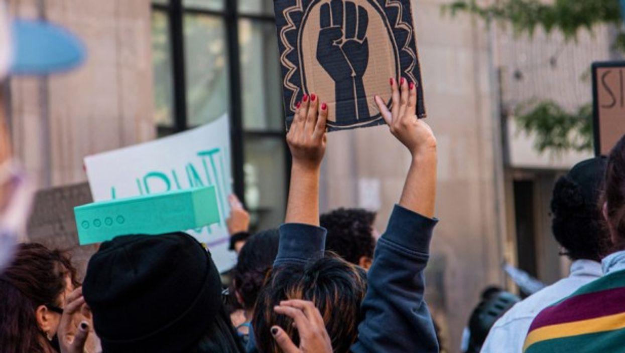 Black Lives Matter protest in Montreal