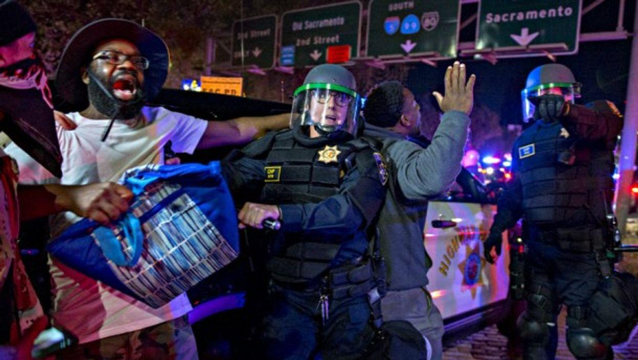 Black Lives Matter protests in Sacramento, California last month