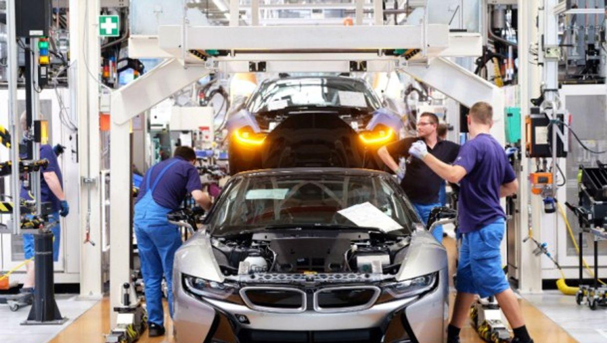 BMW factory in Leipzig, Germany