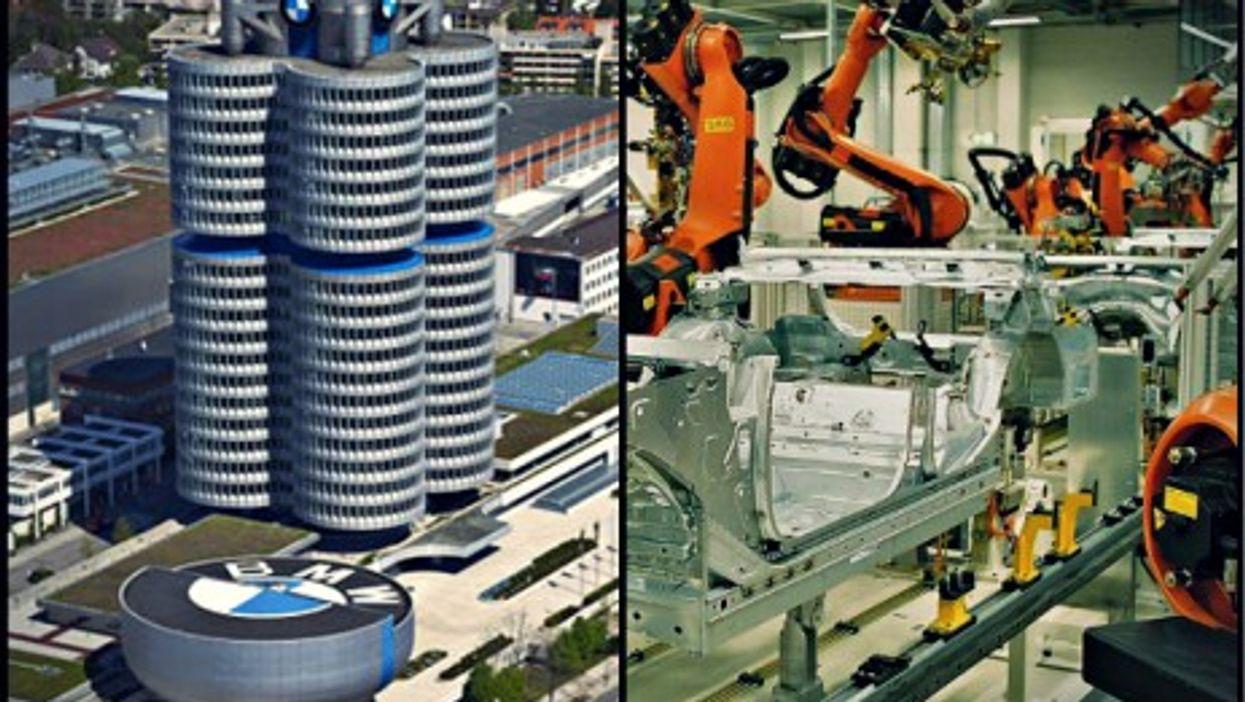 BMW Munich HQ and Leipzig plant