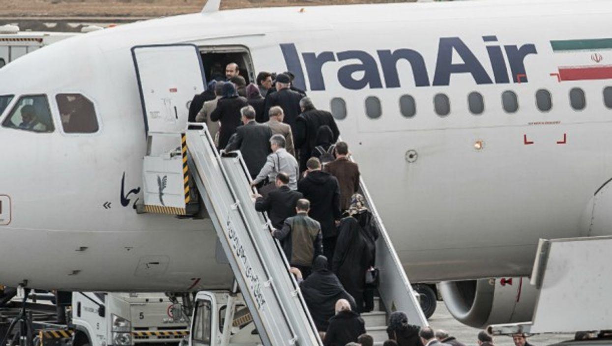 Boarding time in Tehran in February