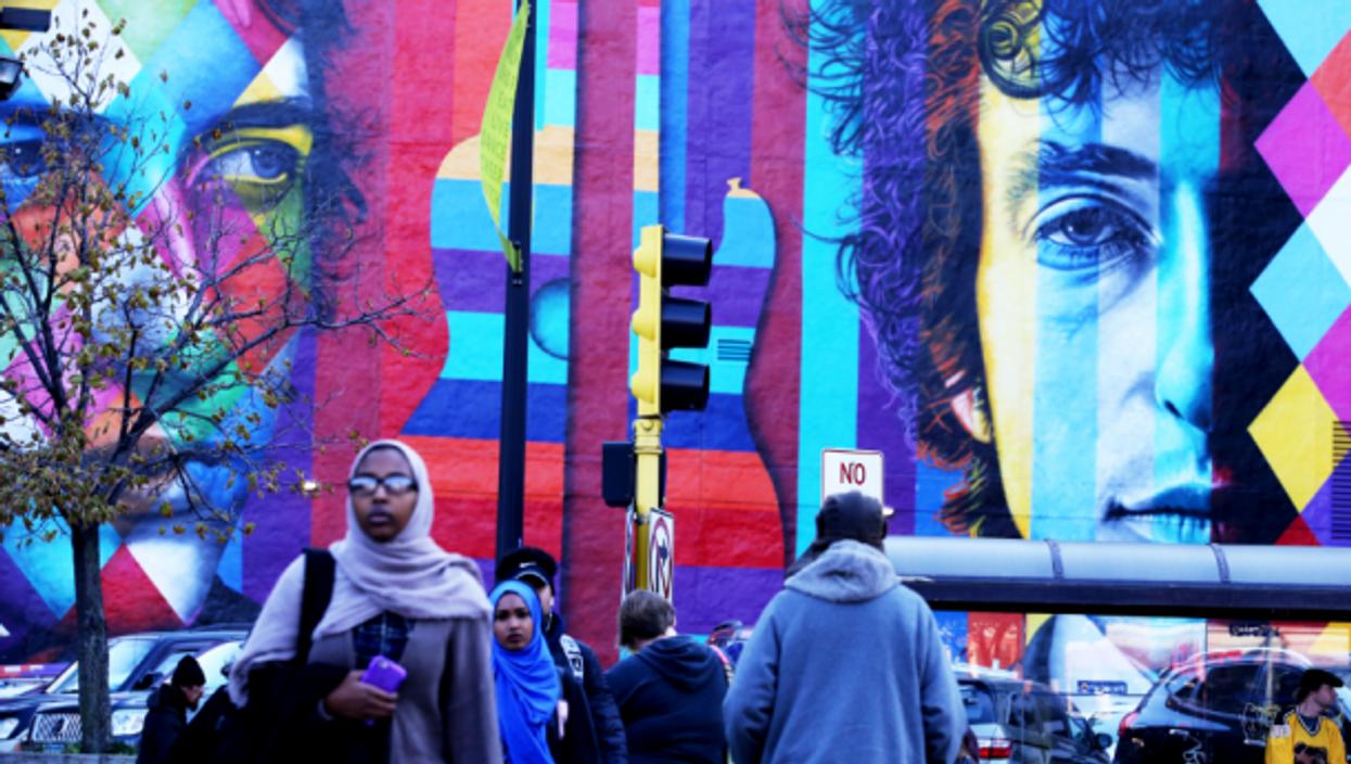 Bob Dylan mural in Minneapolis, Minnesota