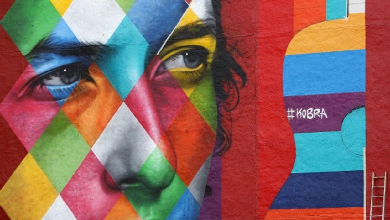 Bob Dylan mural in Minneapolis, MN