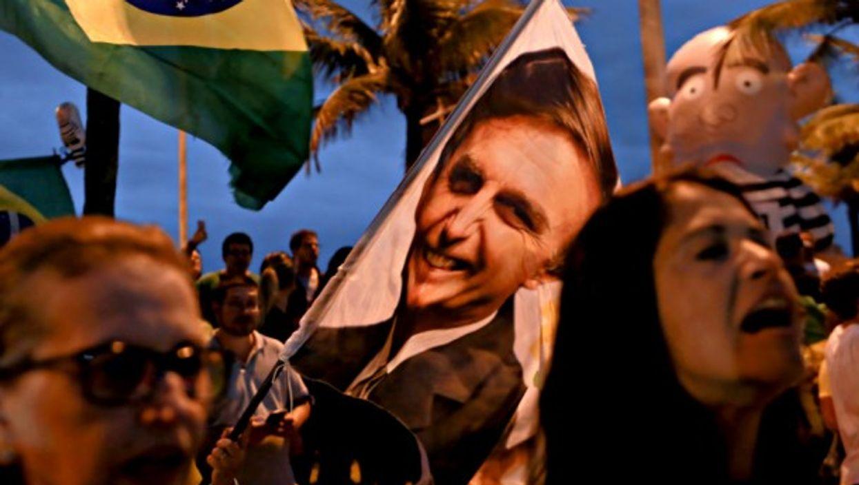 Bolsonaro supporters last week in Rio de Janeiro