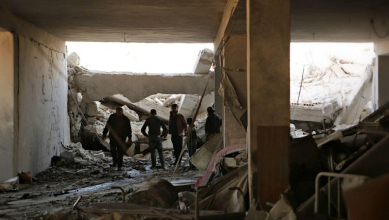 Bombed hospital in the Syrian village of Awaijel on Nov. 15