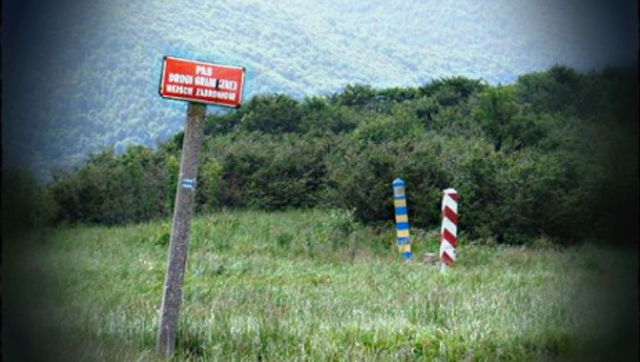 Border sign near the the Wielka Rawka mountain