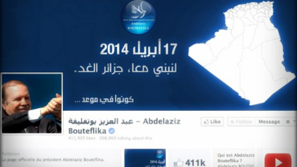 Bouteflika's official Facebook page