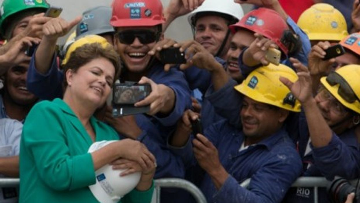 Brazil President Dilma Rousseff in campaign mode
