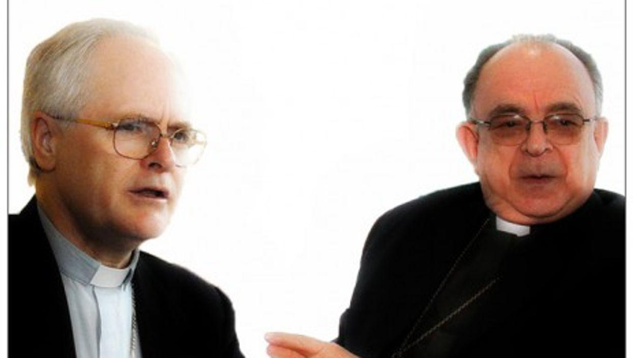 Brazilian Cardinals Odilo Scherer (left) and Raymundo Damasceno Assis (right)