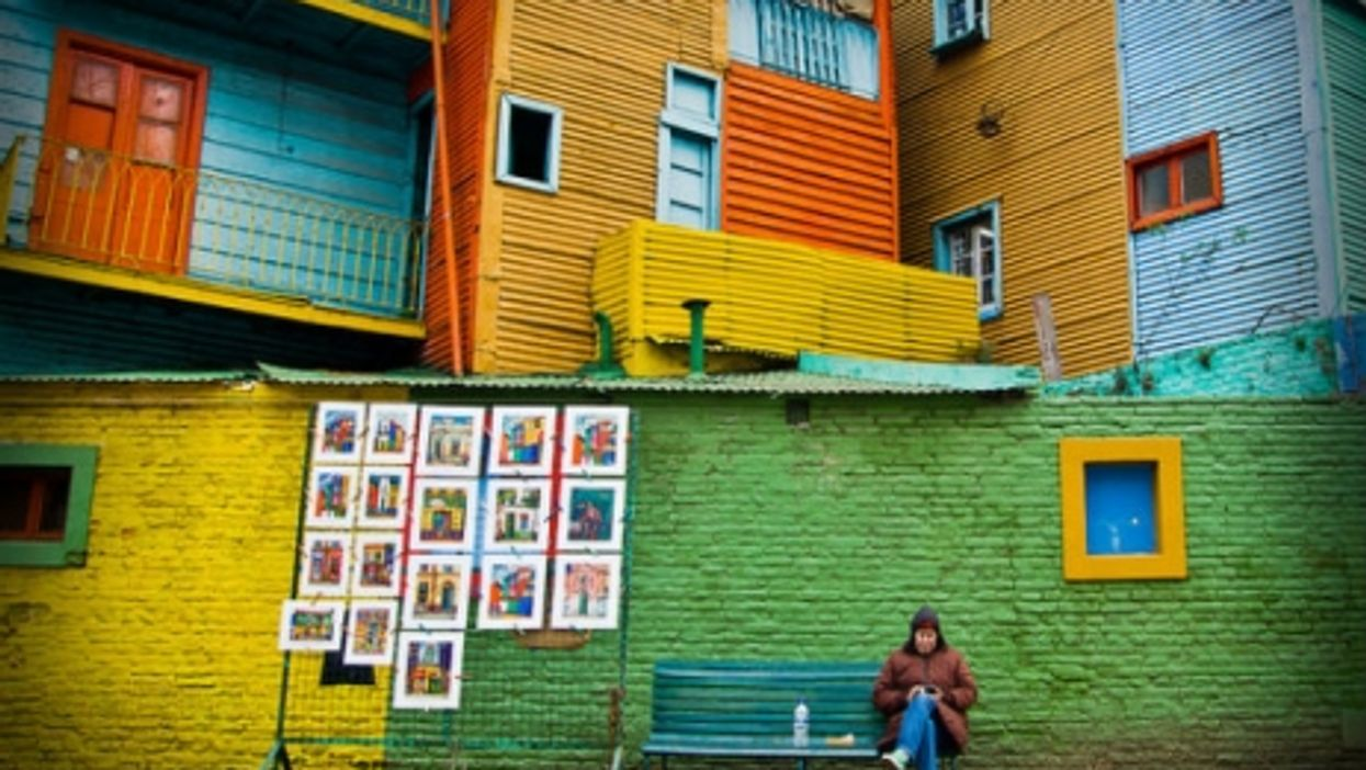 Brazilian colors in Buenos Aires