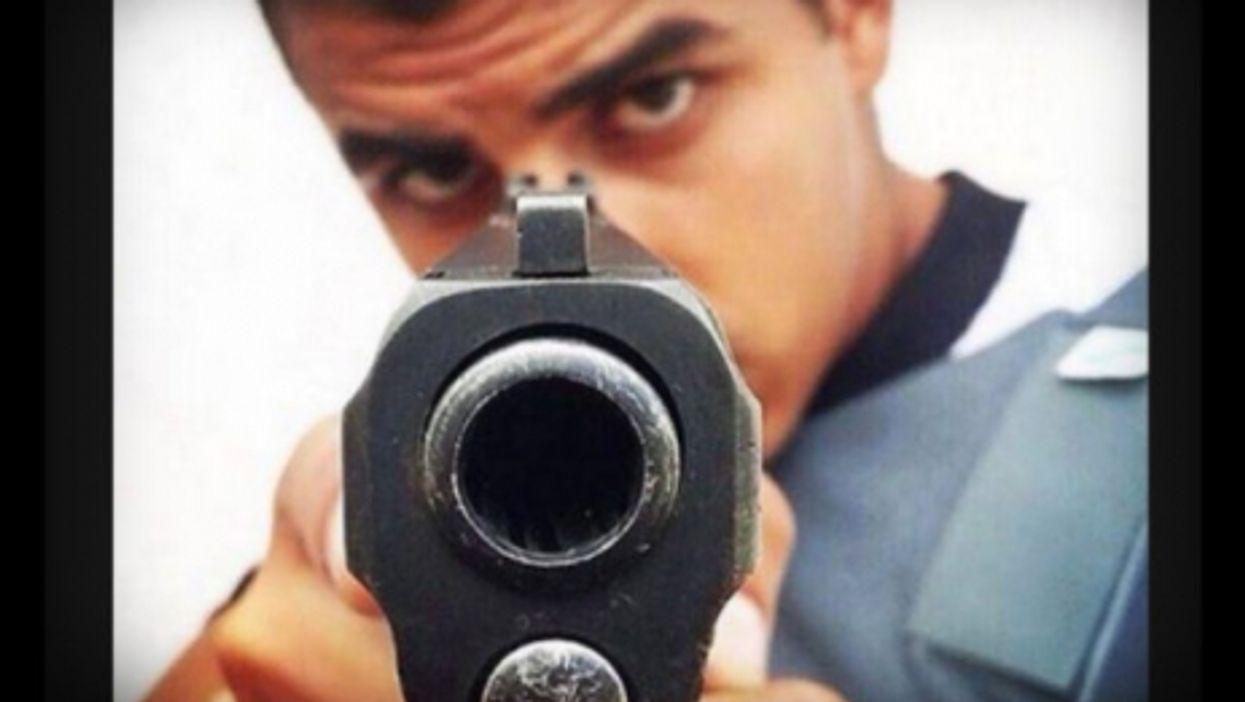 Brazilian police officer sends a message