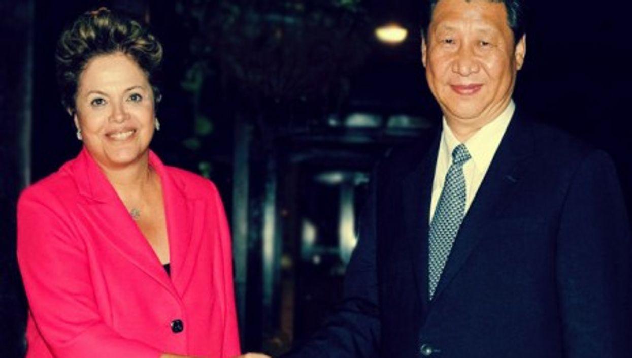 Brazilian President Dilma Rousseff and Chinese President Xi Jinping