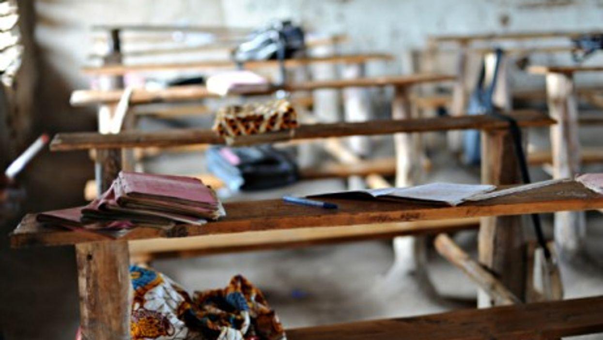 Break time at a school in DRC