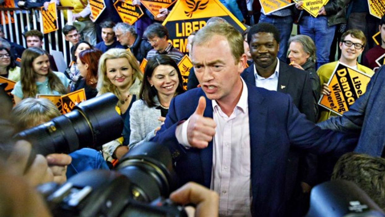 Britain's Liberal Democrats former leader Tim Farron