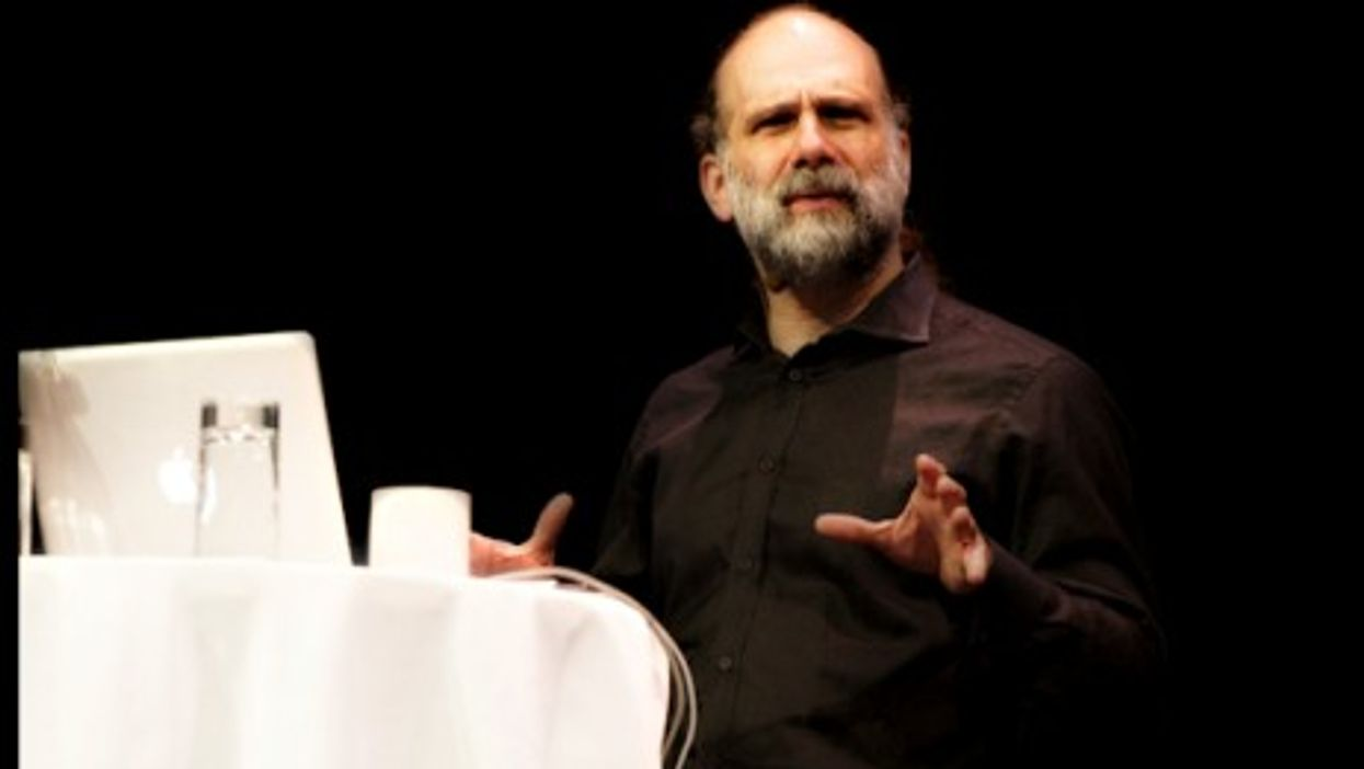 Bruce Schneier at a conference in Stockholm
