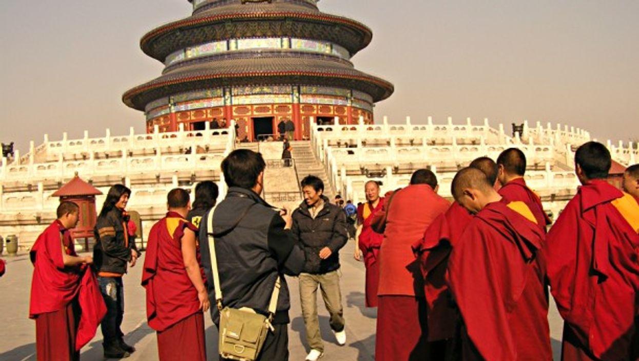 Buddhist monks in Beijing