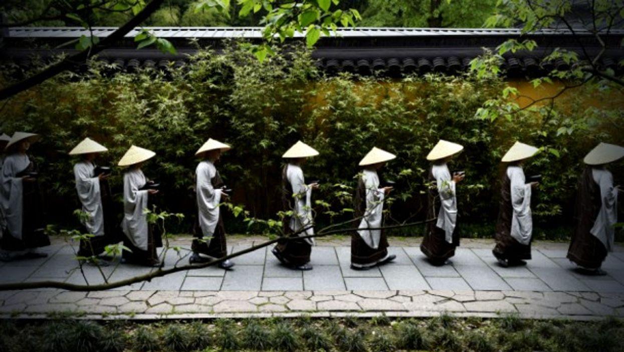 Buddhist Monks in Hangzhou, China