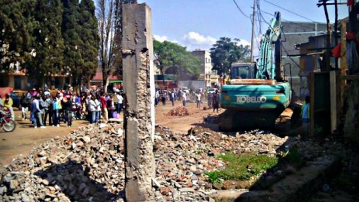 Bulldozing in Bukavu