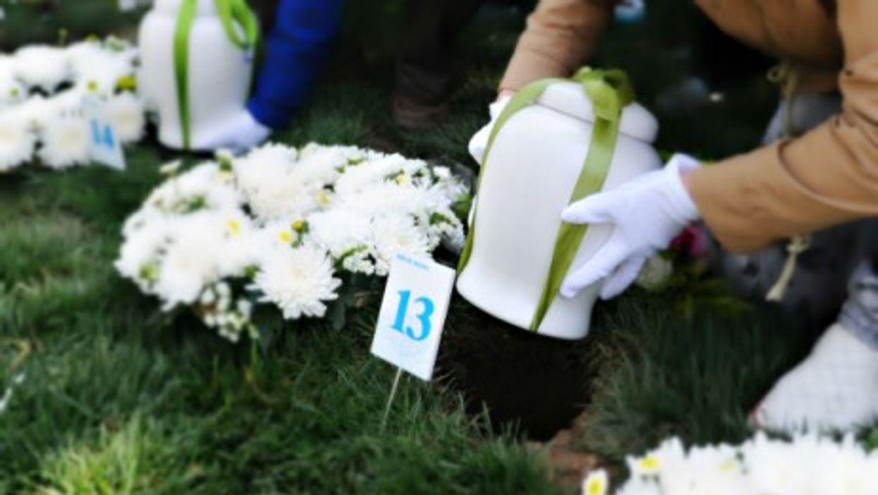 Burying ashes