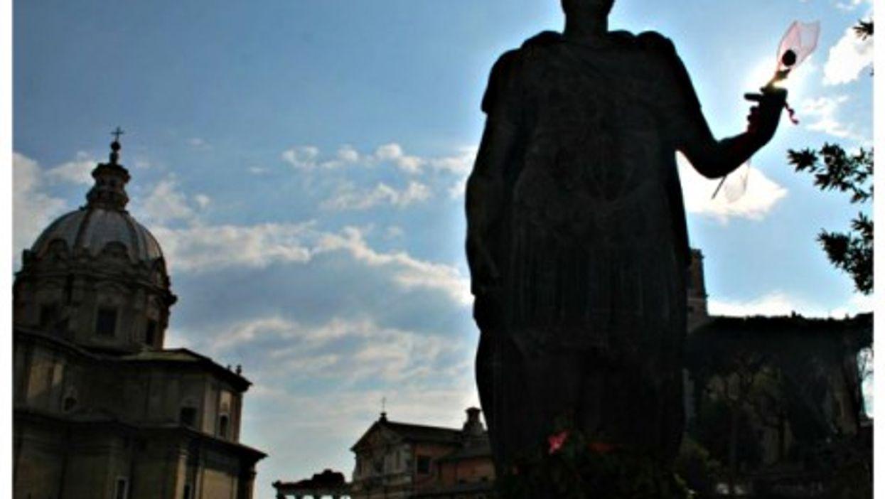 Caesar statue on Rome's Via dei Fori Imperiali