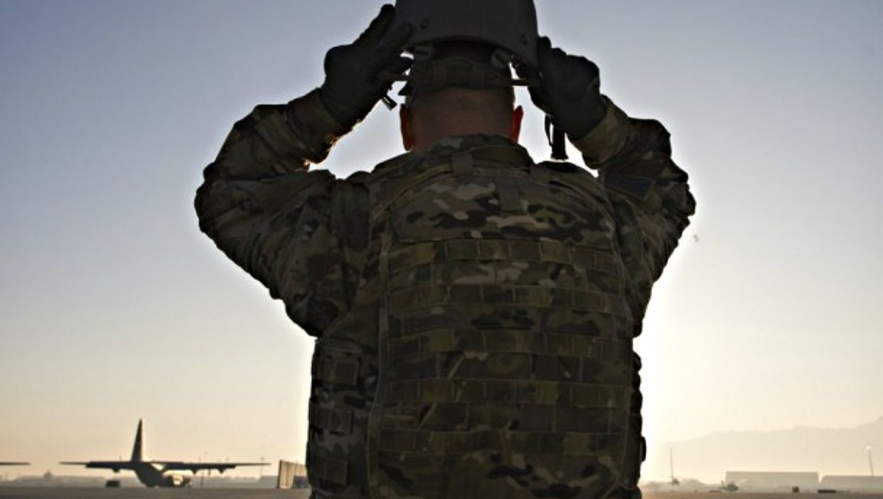 Calling it a day at the U.S. Bagram Air Base in Afghanistan