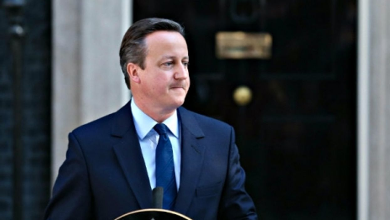 Cameron at 10 Downing Street Friday, announcing he would step down