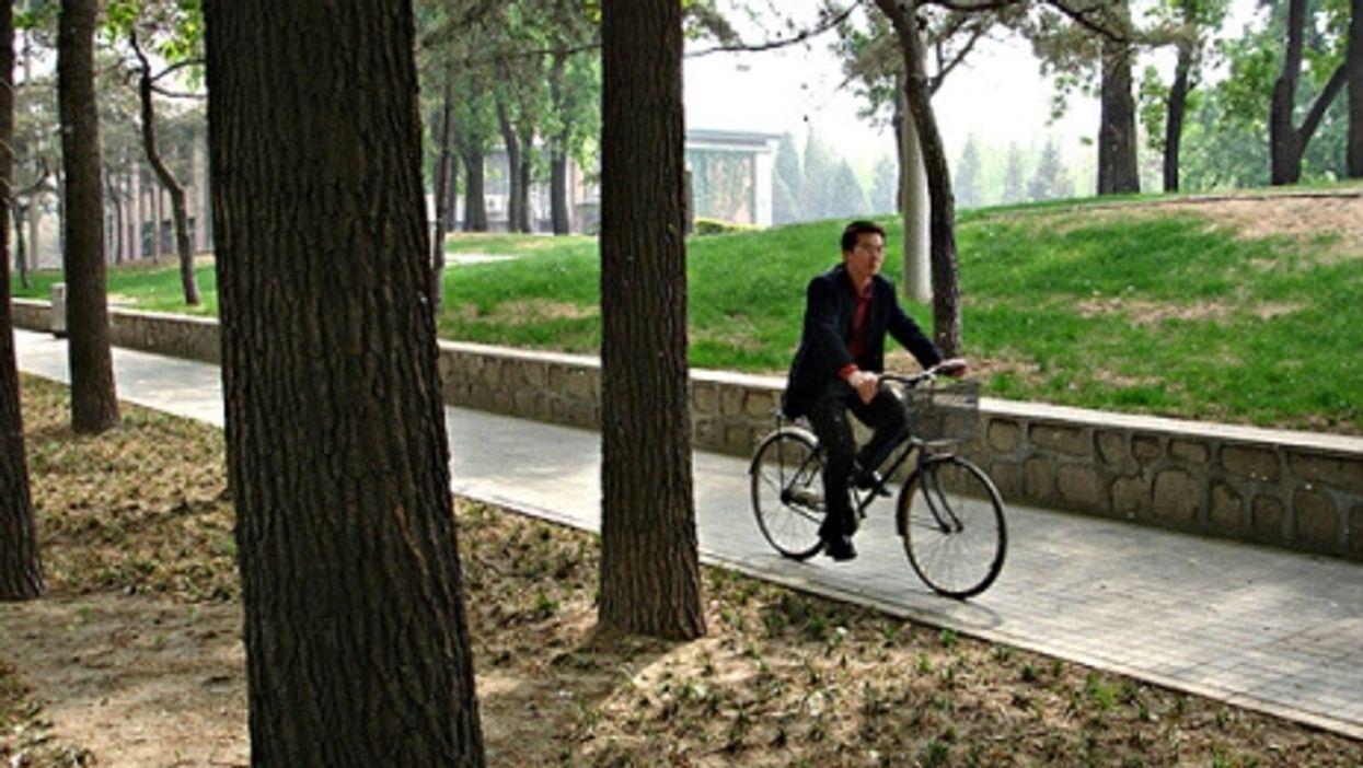 Campus path in Beijing