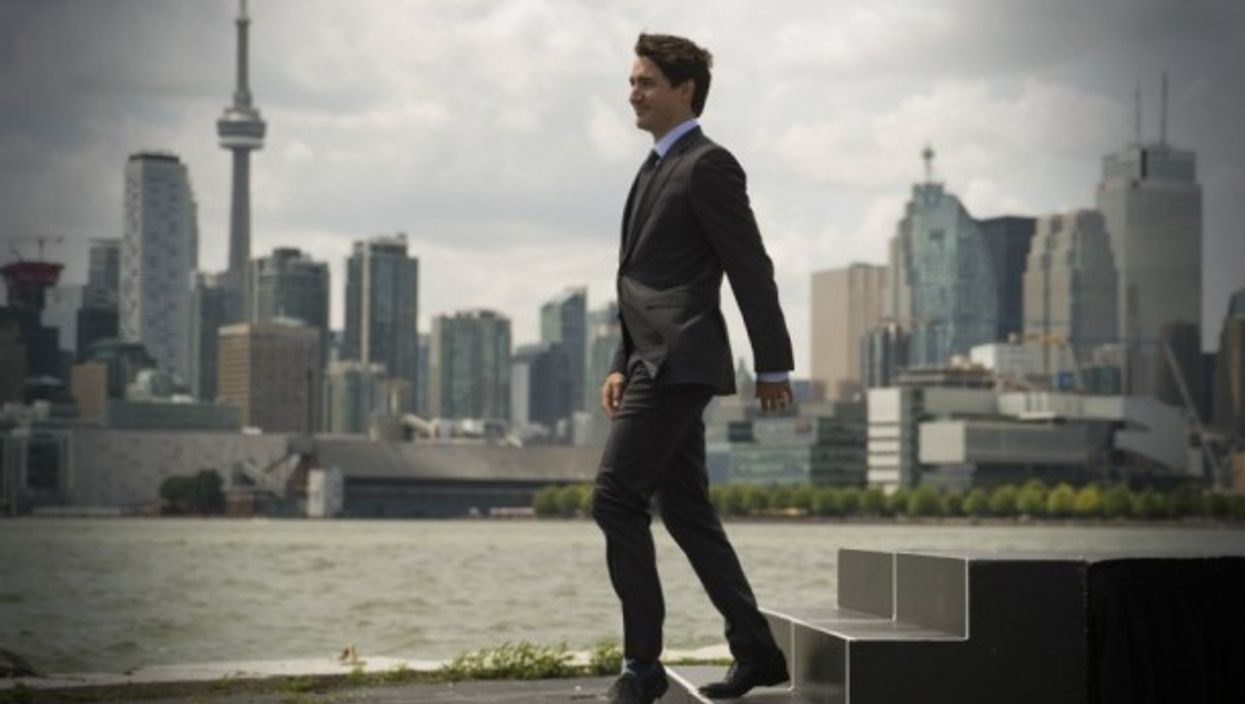 Canadian Prime Minister Justin Trudeau in Toronto