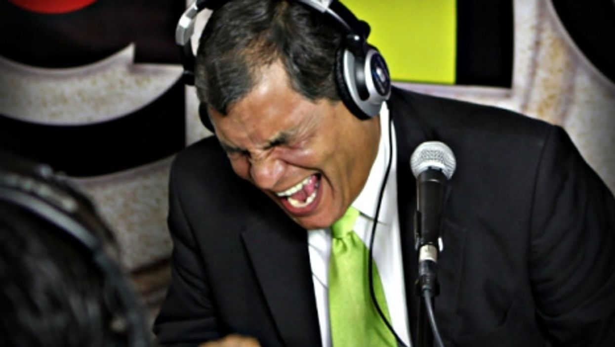 Candidate-As-Showman, Ecuador President Rafael Correa on the campaign trail in 2013