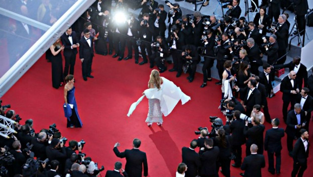 Cannes' red carpet from above