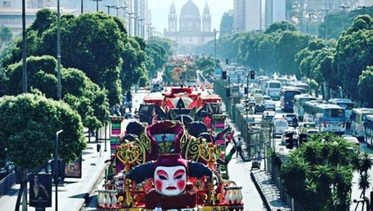 Carnaval floats in Rio