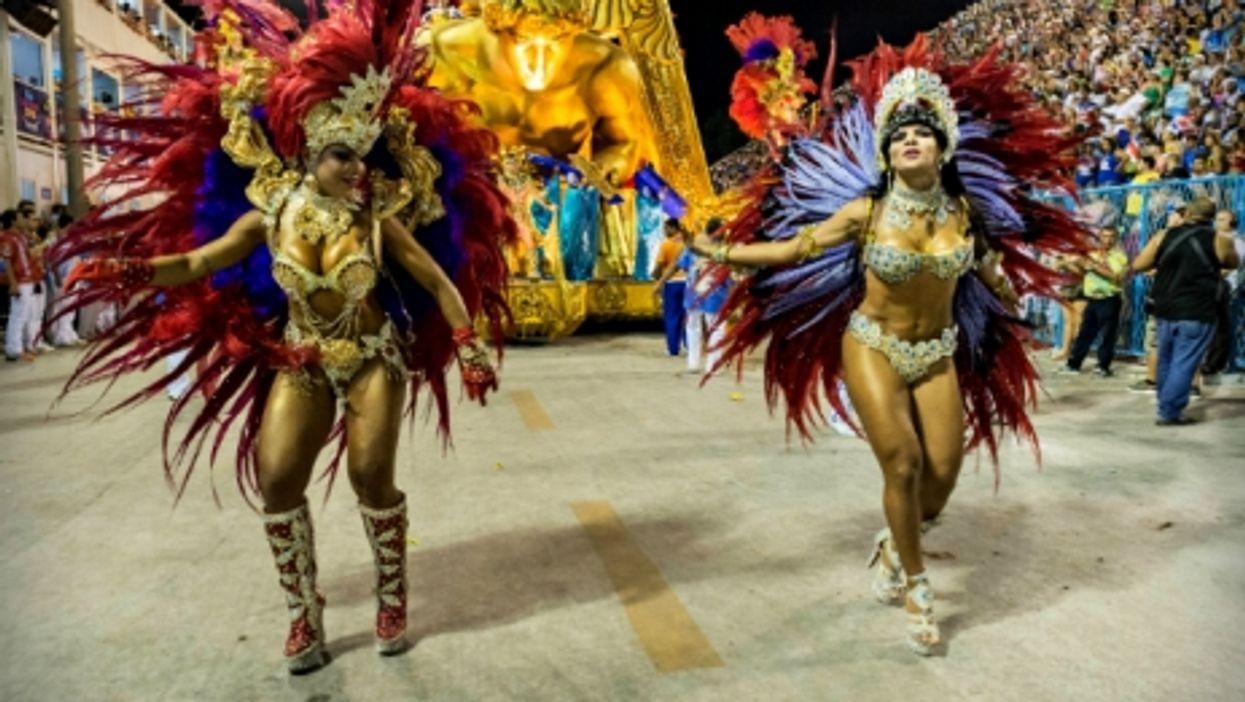 Carnival dancers in Rio in 2015