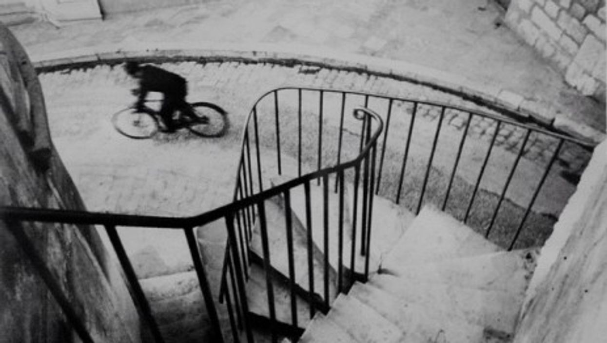 Cartier-Bresson 'chooses' his geometry, and waits for life to arrive.