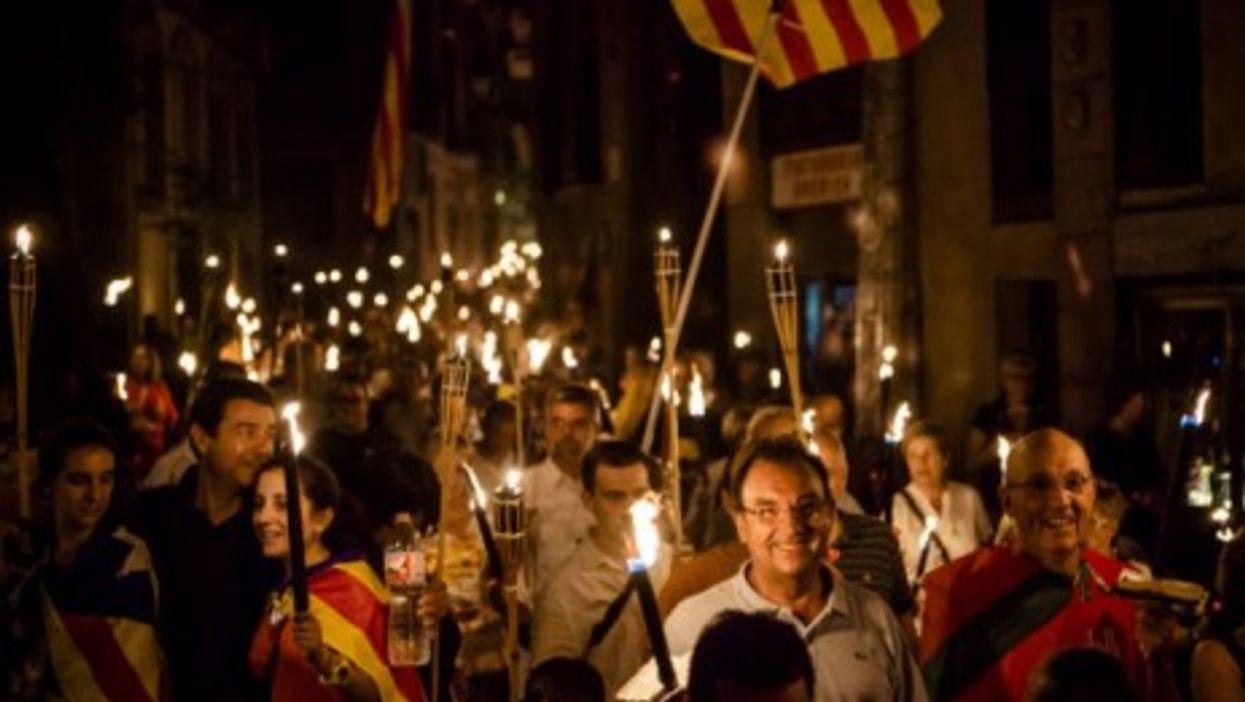 Catalan separatists in Barcelona