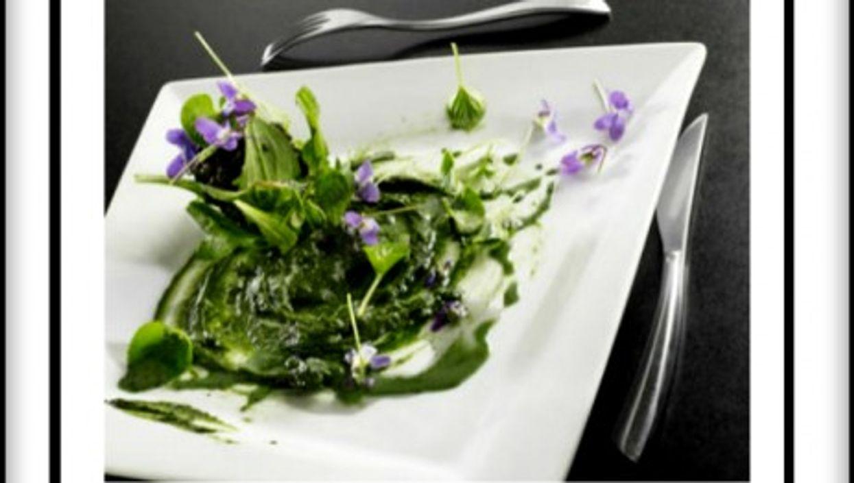 """Cedric Denaux's """"snails and violet flowers"""""""