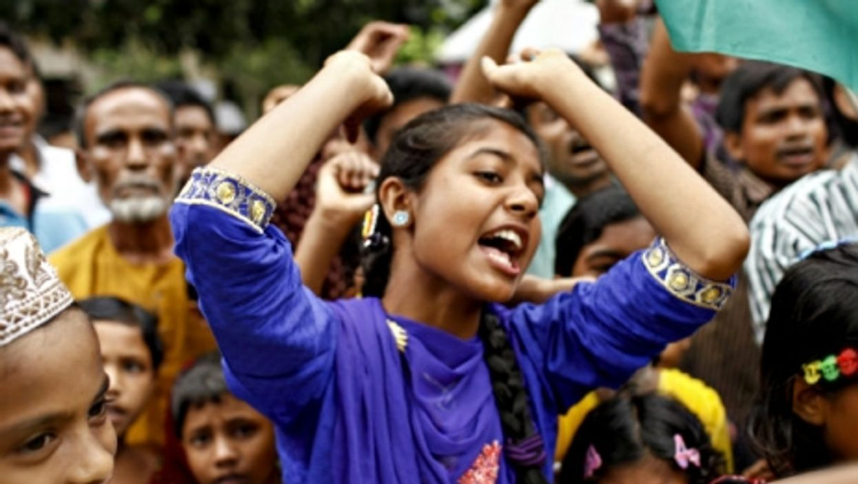 Celebrations in Kurigram, Bangladesh this summer of the historic pact