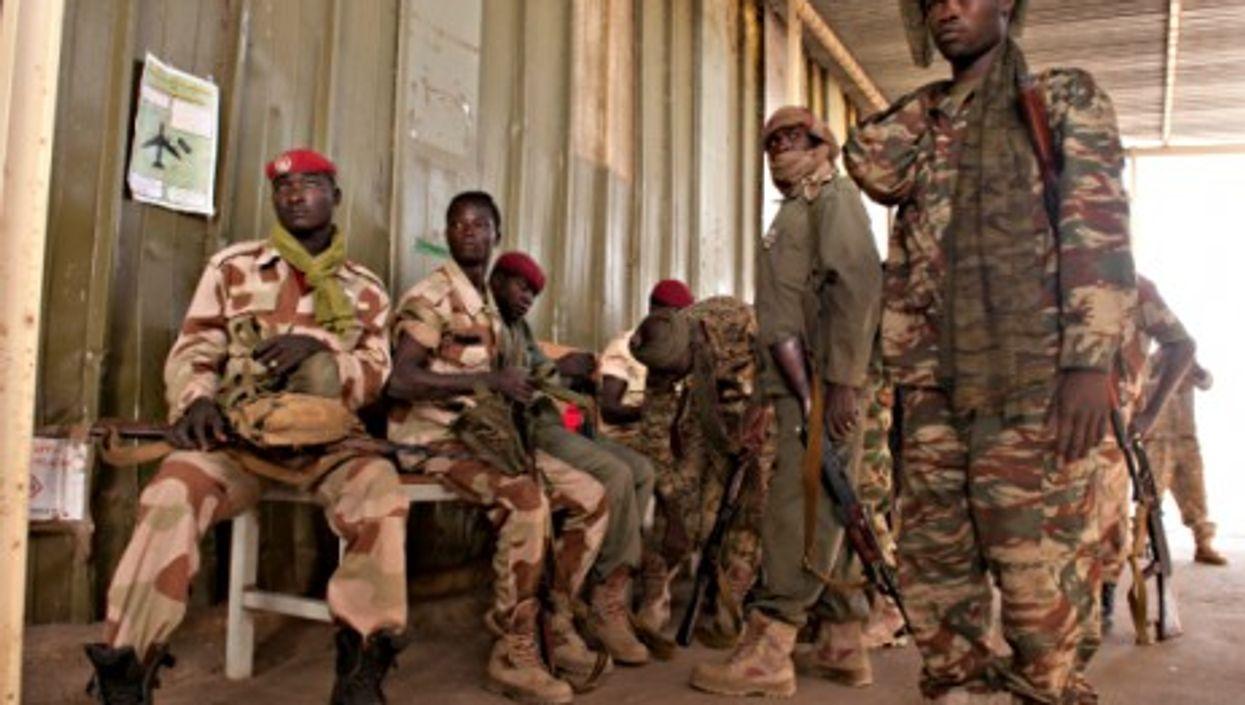 Chadian soldiers in N'Djamena
