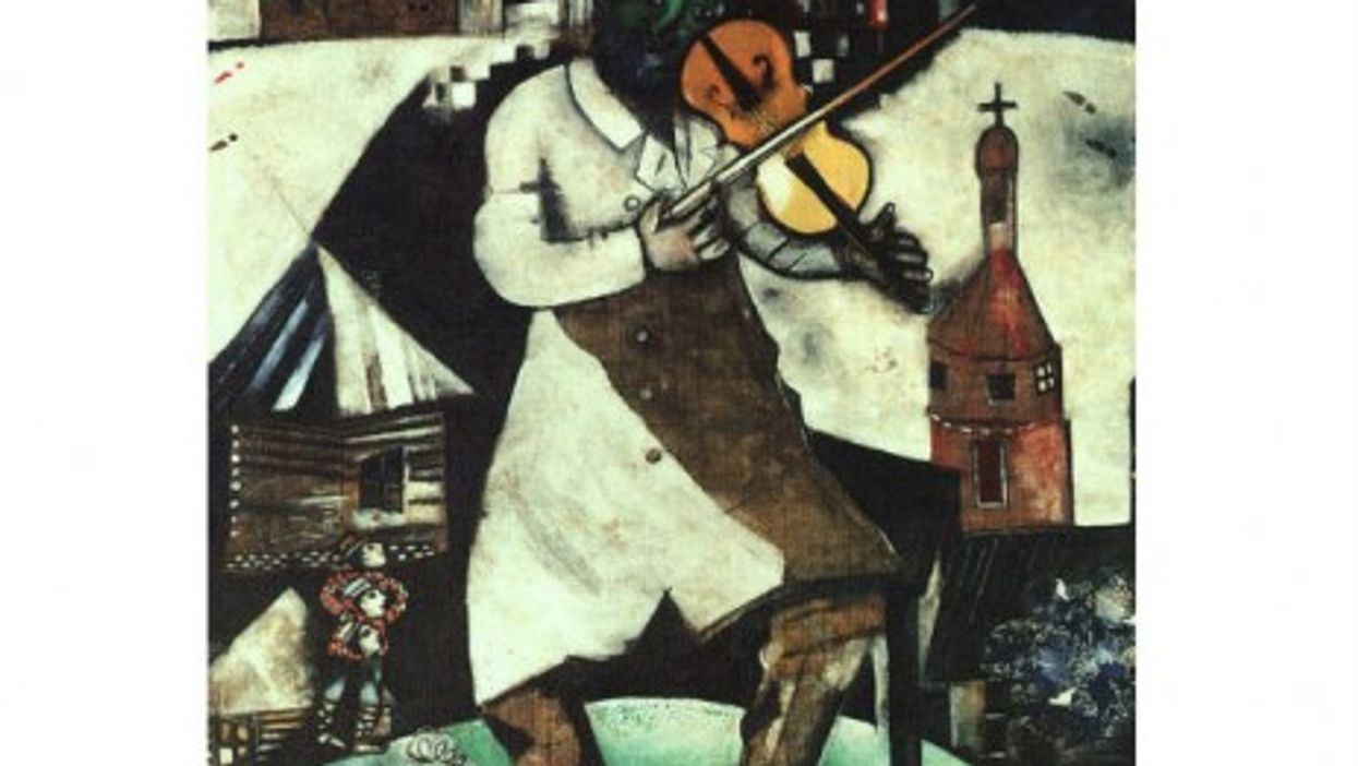 """Chagall's """"The Fiddler."""" Other works of the French Jewish artist were among those found in Munich."""