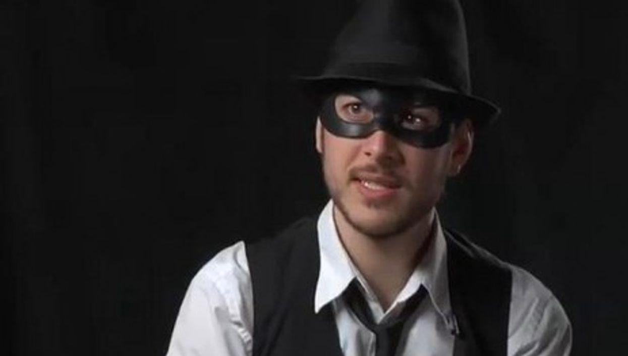 Chaim Lazarus, aka Life, a real life superhero