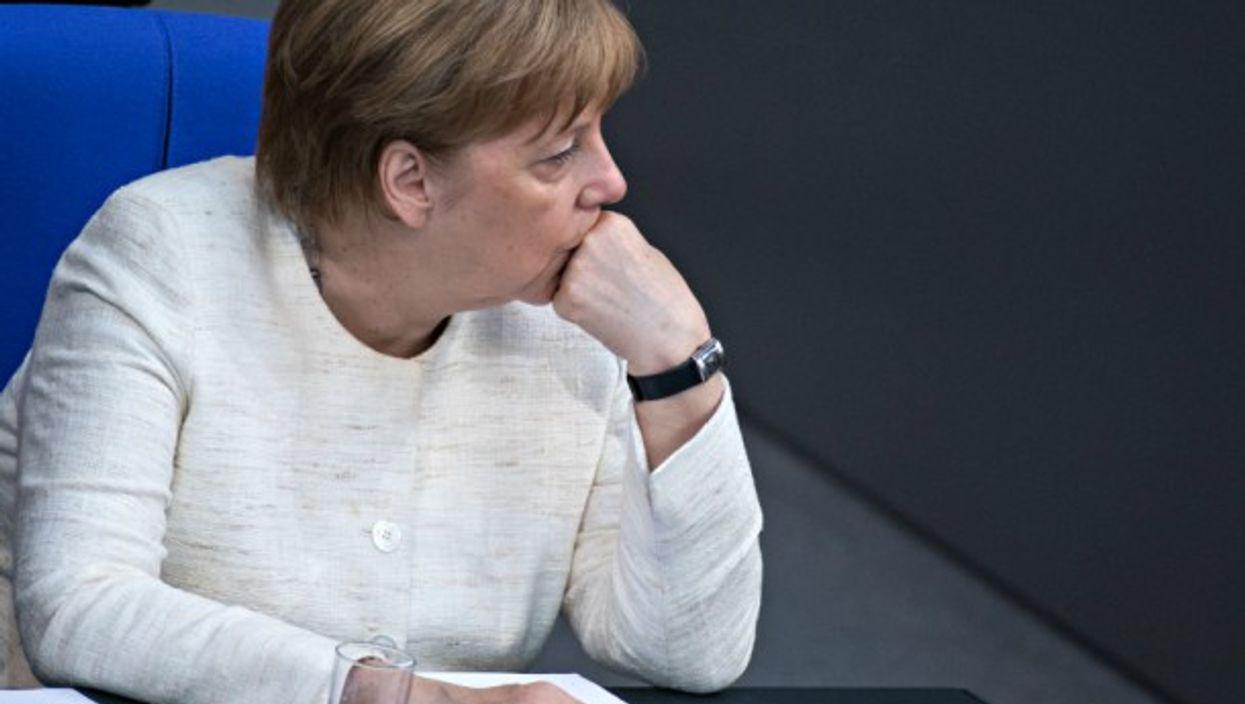 Chancellor Merkel in Berlin's Bundestag on July 3