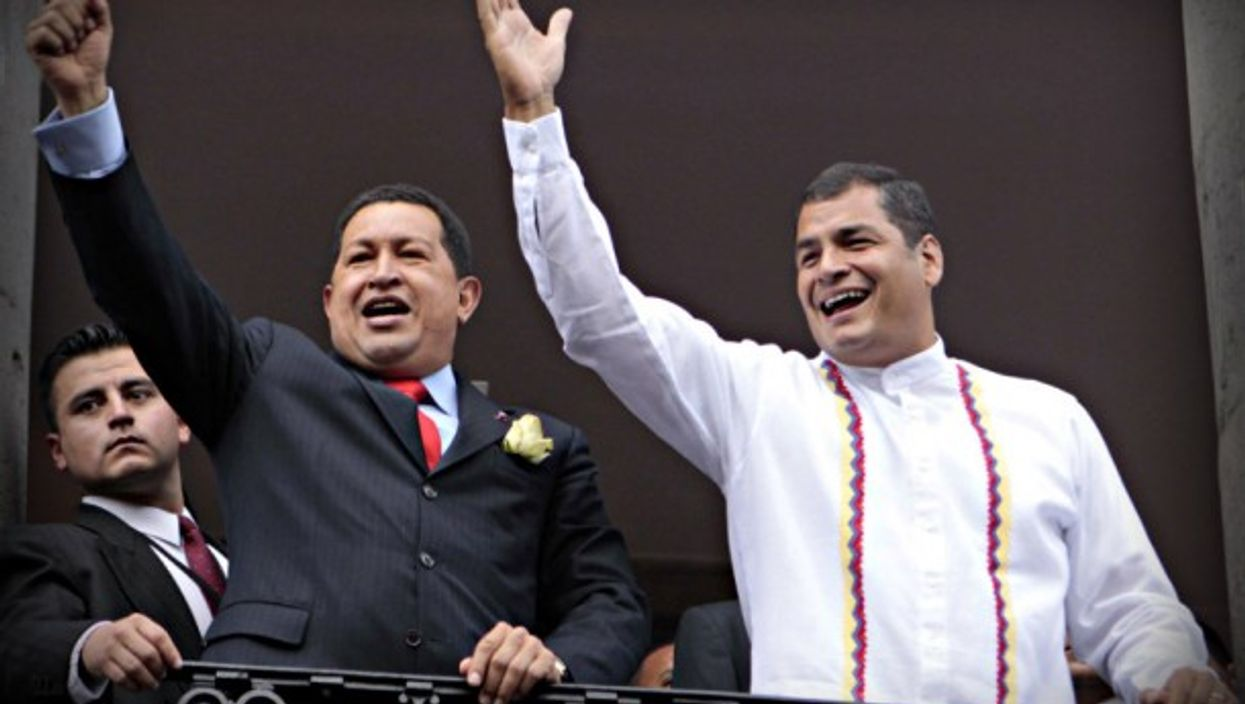 Chavez and Correa in 2009