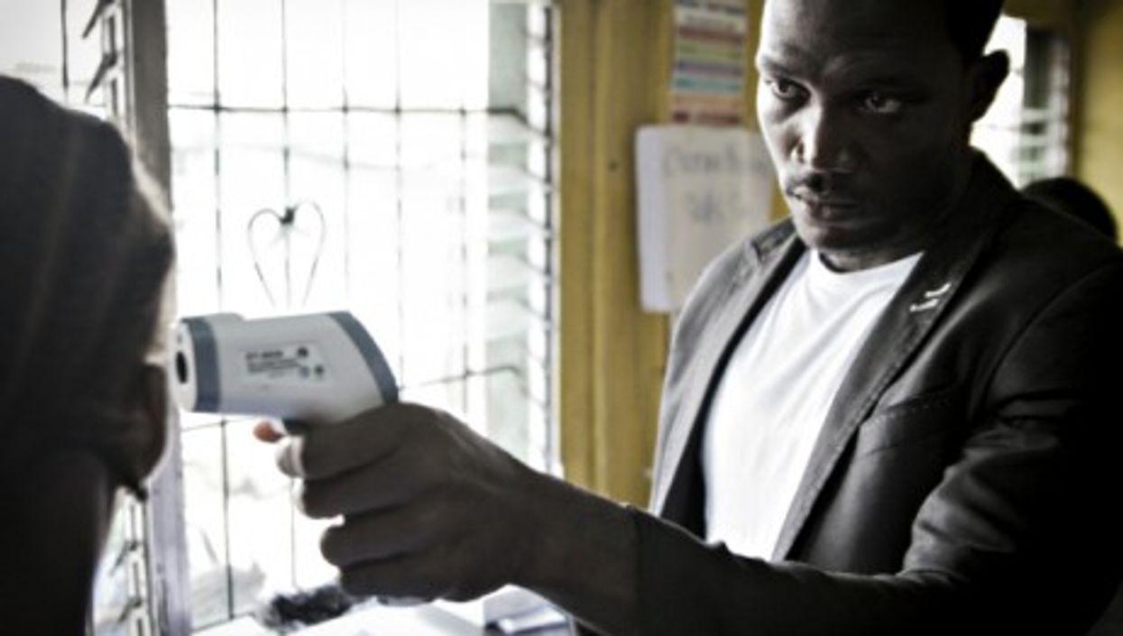 Checking fever in Monrovia