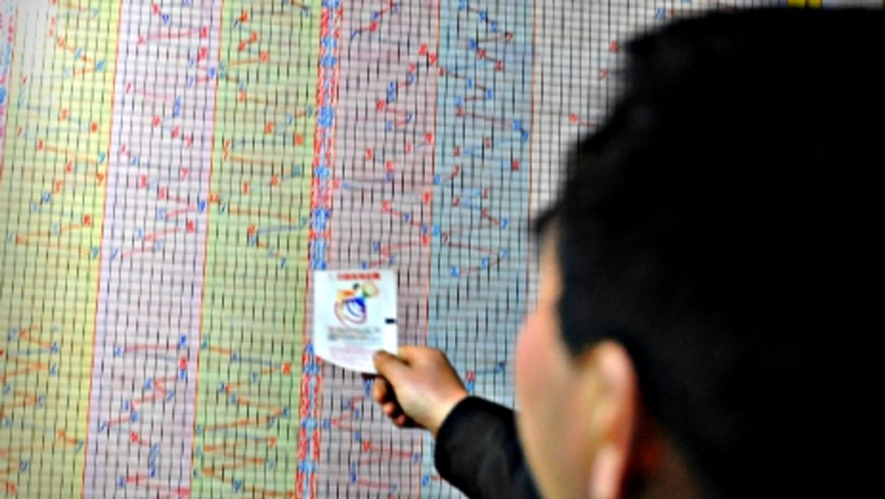 Checking the results of sports lottery in central China