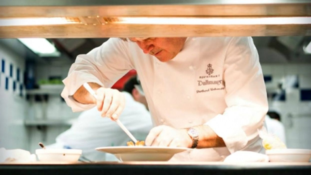 Chef Diethard Urbansky at work in Munich's Dallmayr restaurant