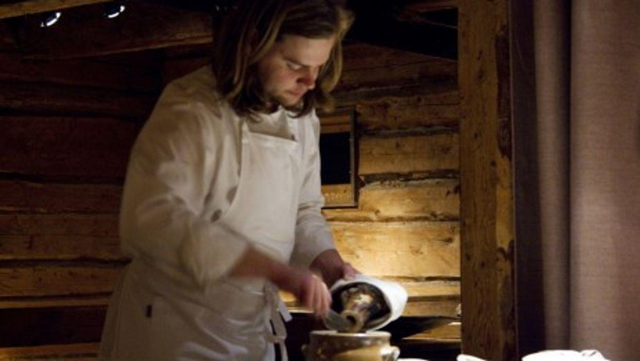 Chef Magnus Nilsson at work in northern Sweden's Fäviken Magasinet restaurant