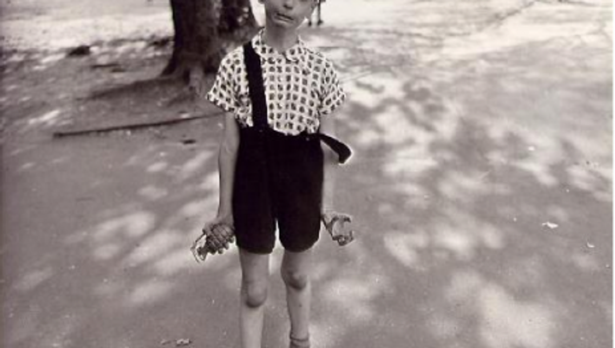 Child with Toy Hand Grenade in Central Park (1962)