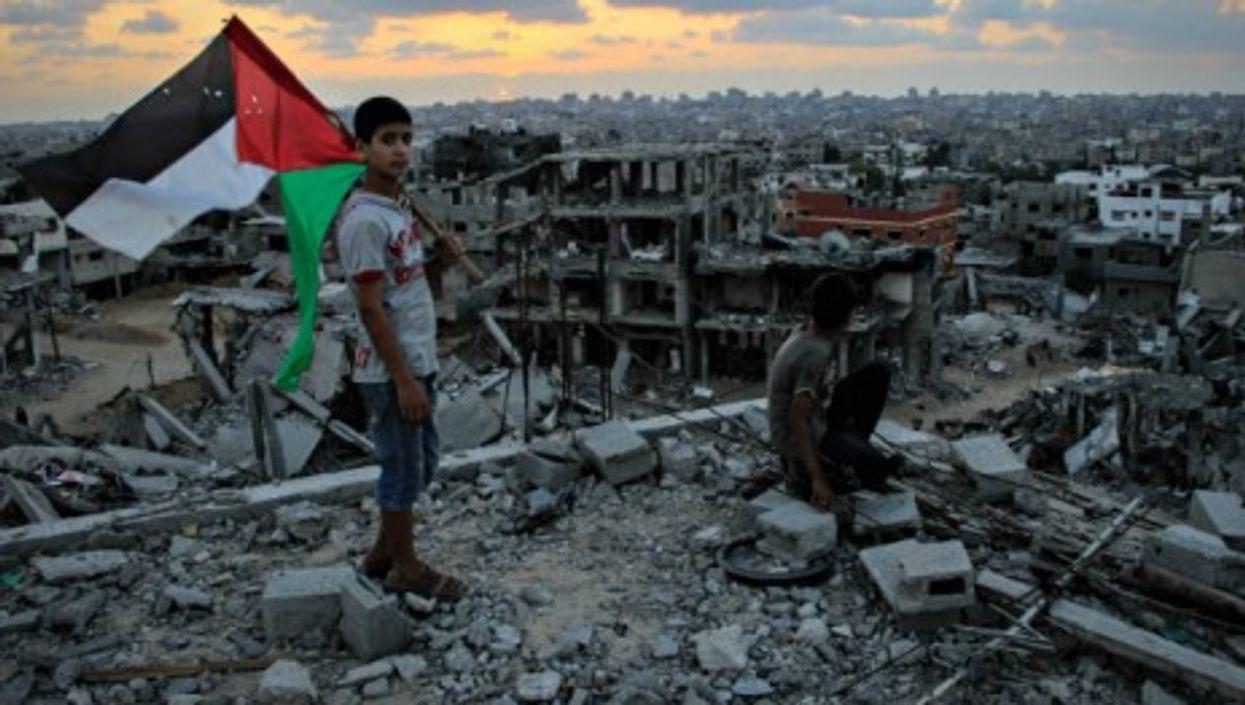 Children in Gaza's Shejaia neighborhood on Sept. 1