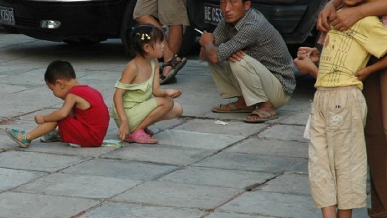 Children on the streets of Beijing, China