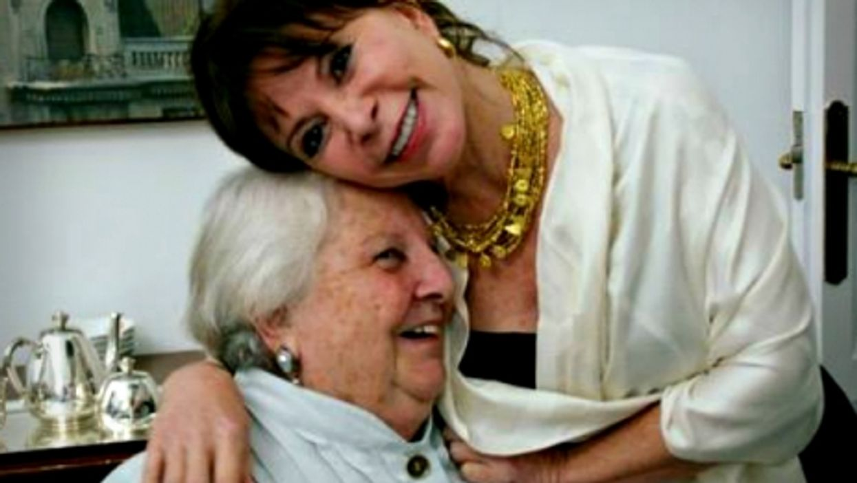 Chilean writer Isabel Allende with literary agent Carmen Balcells
